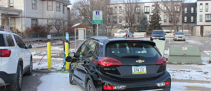 CFU and the City of Cedar Falls bring public electric vehicle charger to downtown Cedar Falls
