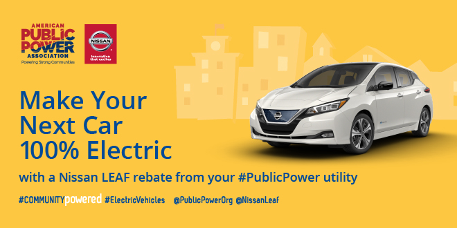 American Public Power Association Nissan LEAF rebate