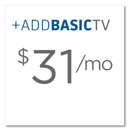 Add Basic TV to your FiberHome Internet plan for only $31 per month