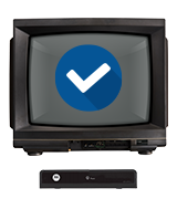 service will continue for analog TVs with equipment